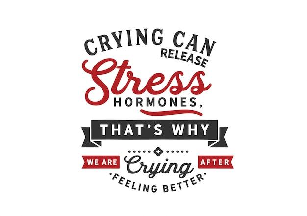 Weinen kann zusätzliche stresshormone freisetzen Premium Vektoren