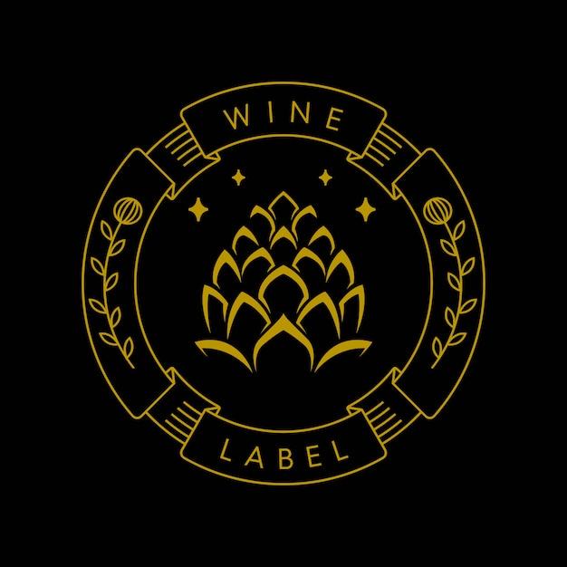 Weinetikettenindustrie Premium Vektoren