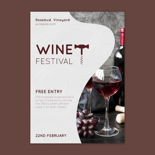 Weinfestplakatvorlage Kostenlosen Vektoren