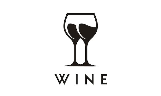 Weinglas symbol / logo-design Premium Vektoren