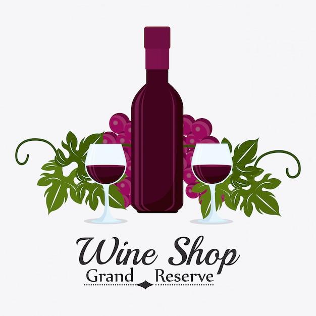 Weinhandlung design. Premium Vektoren