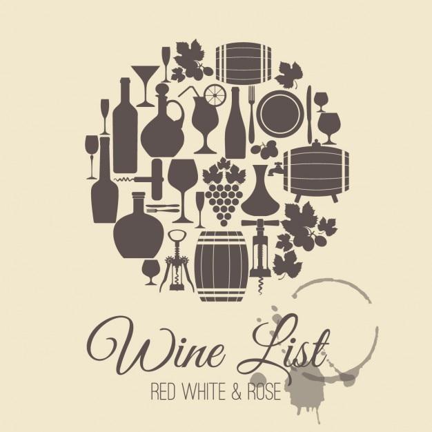 Weinkarte karte Kostenlosen Vektoren