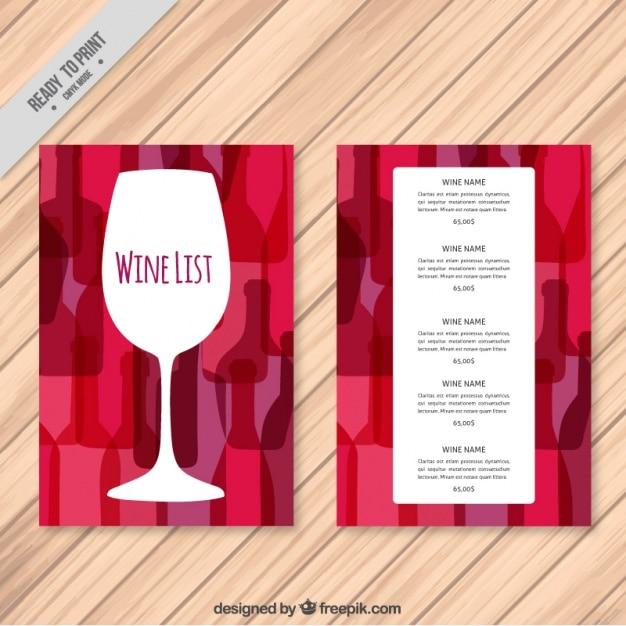 Weinkarte Vorlage mit bunten Hintergrund | Download der kostenlosen ...