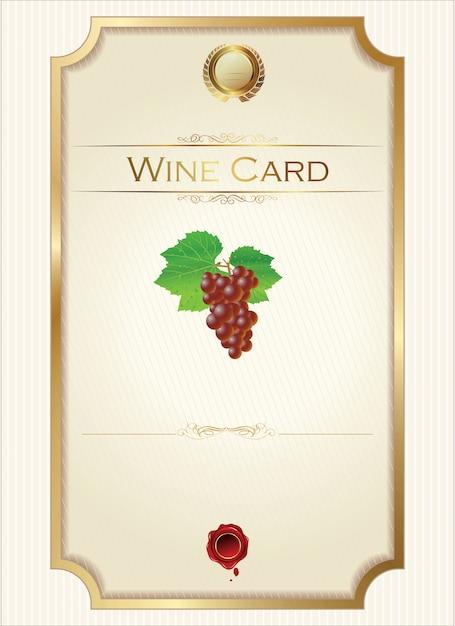 Weinkarte Premium Vektoren