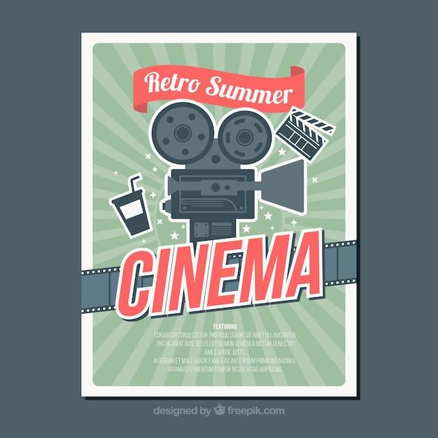 Weinlese-Filmplakat   Download der kostenlosen Vektor