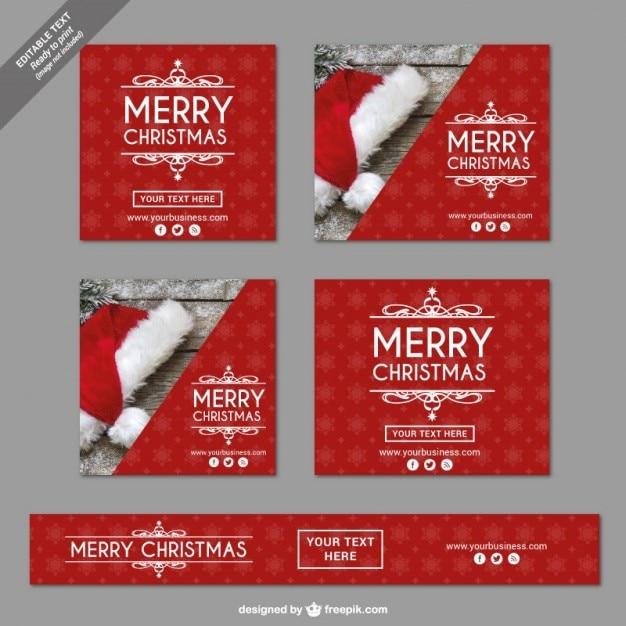 weinlese frohe weihnachten banner download der. Black Bedroom Furniture Sets. Home Design Ideas