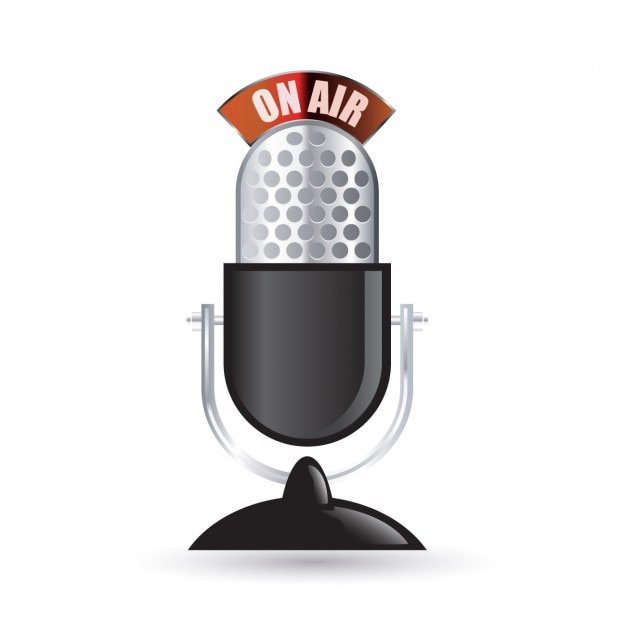 Weinlese-Funk-Mikrofon-Symbol | Download der kostenlosen Vektor