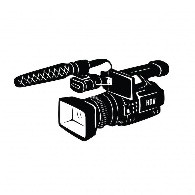 Weinlese-hand gezeichneter videorecorder Premium Vektoren