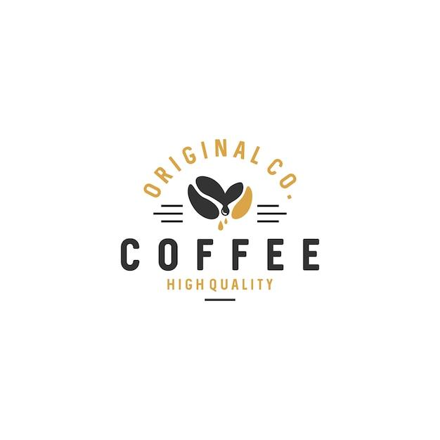 Weinlese-kaffee logo badges stock vector Premium Vektoren