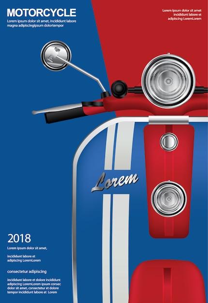 Weinlese-motorrad lokalisierte vektor-illustration Premium Vektoren
