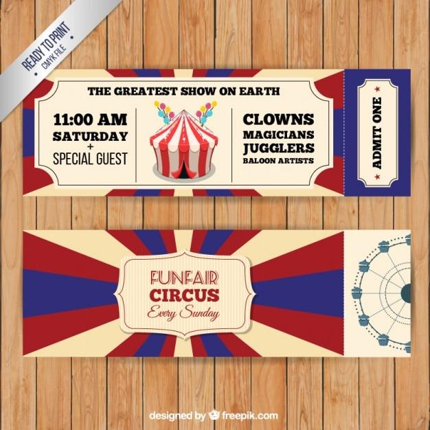 Weinlese-Zirkus-Karten-Pack   Download der kostenlosen Vektor