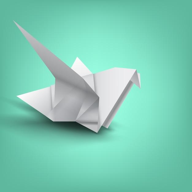 Weisheit auf vogelpapierfaltung Premium Vektoren