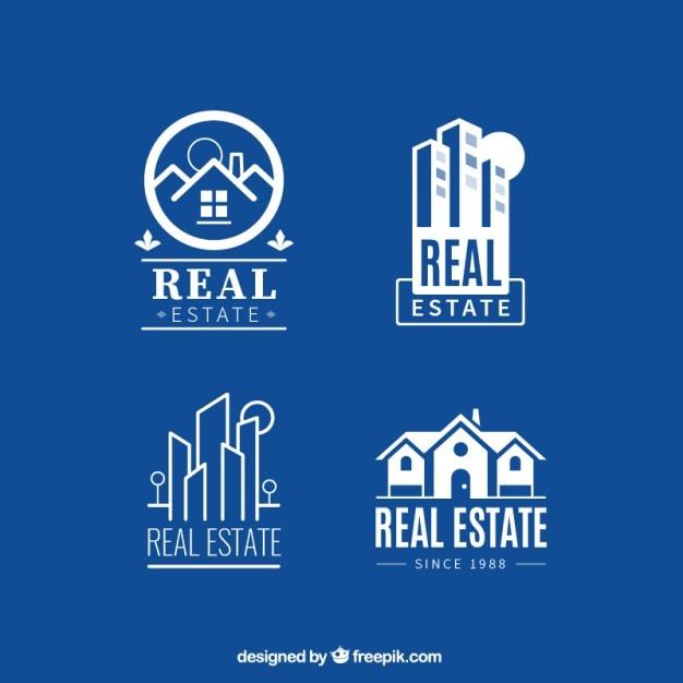 Weiss Immobilien weiß immobilien wohnung logos der kostenlosen vektor