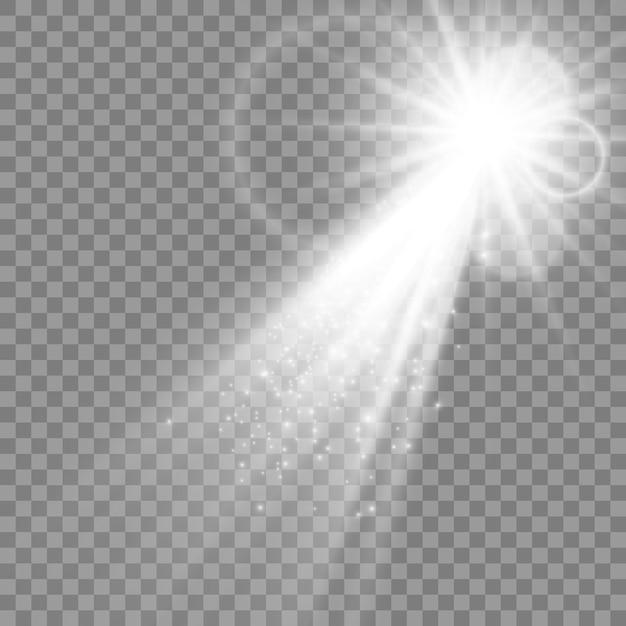 Weiß leuchtendes licht explodiert Premium Vektoren