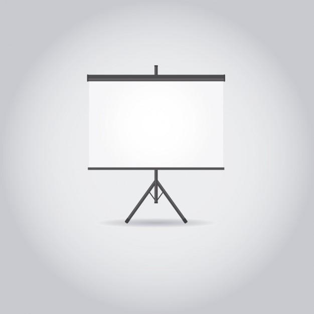 Weiß projektor bildschirm Kostenlosen Vektoren