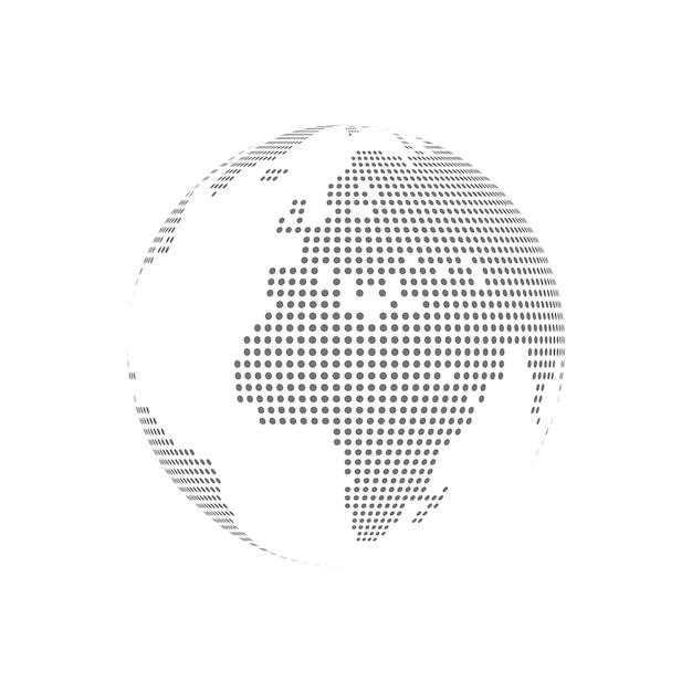 Weiß punktierte transparente vektorglasillustration der kugel Premium Vektoren