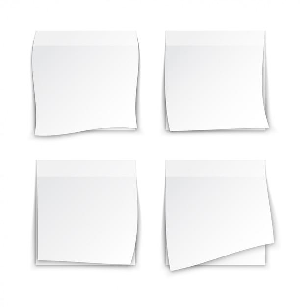 Weißbuch haftnotizen Premium Vektoren
