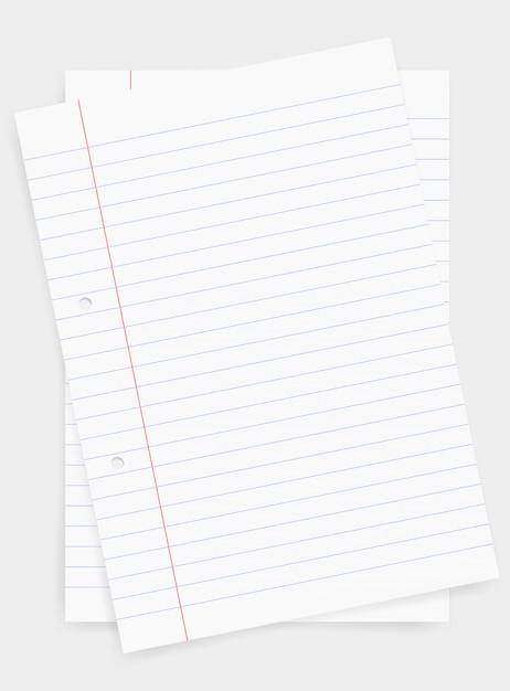 Weißbuchblatt für geschäftshintergrund. Premium Vektoren