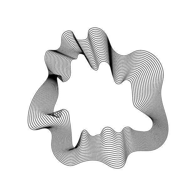 Weiße abstrakte kartenumrisslinienfahne Kostenlosen Vektoren