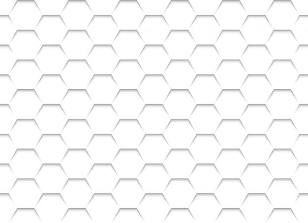 Weiße bienenwabengitterbeschaffenheit Premium Vektoren