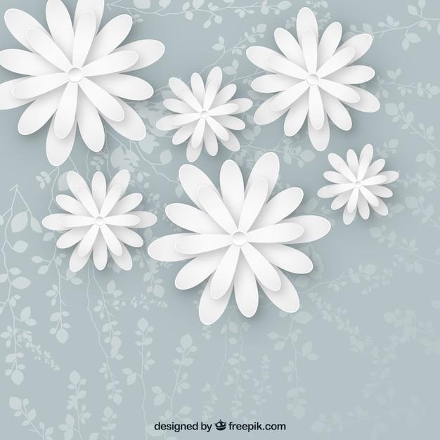 Weiße Blumen Hintergrund | Download der kostenlosen Vektor