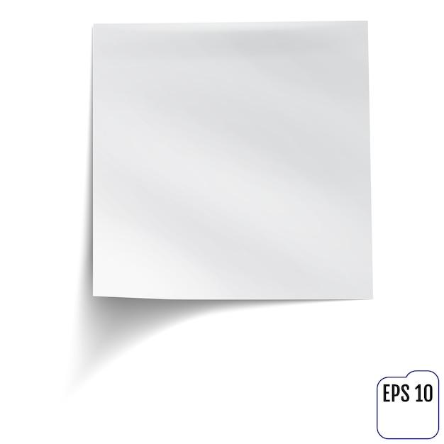 Weiße haftnotiz Premium Vektoren