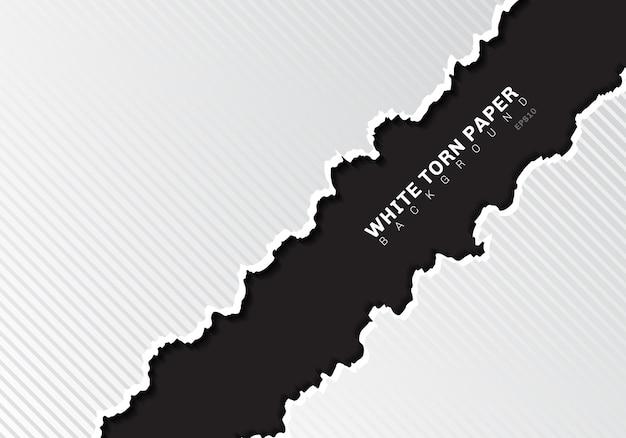 Weiße heftige papierkanten mit schattenschwarzhintergrund Premium Vektoren