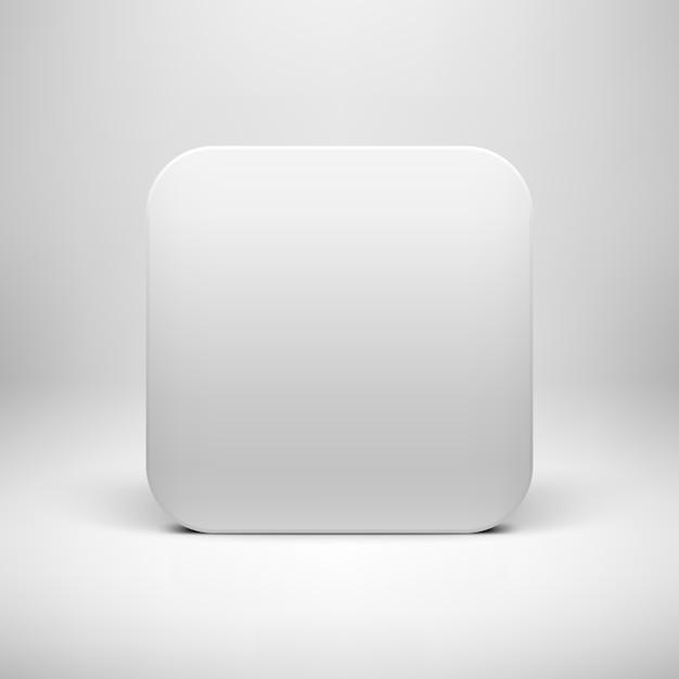 Weiße leere app-ikonen-knopf-schablone Premium Vektoren