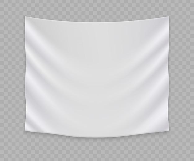 Weiße leere flagge oder fahnenschablone Premium Vektoren