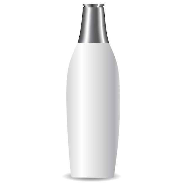 Weiße lotionsflasche Premium Vektoren