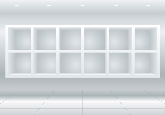Weiße möbelzellen Premium Vektoren