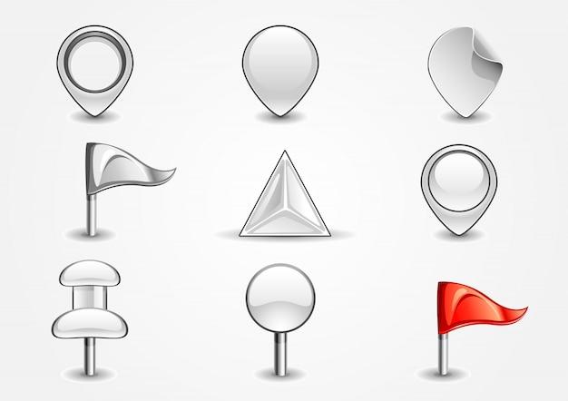 Weiße navigationszeichen Premium Vektoren