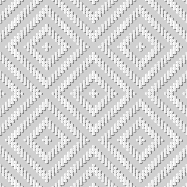 Weiße papierkunstkurve kreuzlinie überprüfen quadratischen rahmen, stilvollen dekorationsmusterhintergrund für web-banner-grußkarte Premium Vektoren