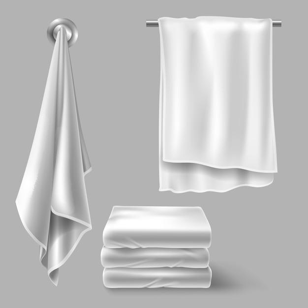 Weiße stoffhandtücher Kostenlosen Vektoren