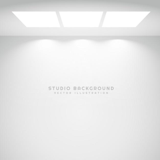 Weiße studio lichter hintergrund Kostenlosen Vektoren
