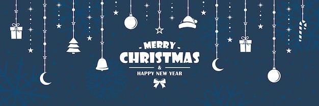 Weiße weihnachtsfiguren hängen an einem seil Premium Vektoren