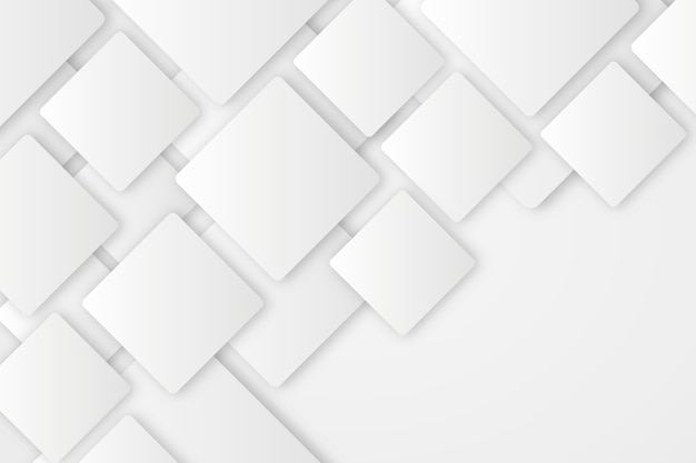 Weißer abstrakter hintergrund in der art des papiers 3d Kostenlosen Vektoren