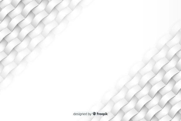 Weißer geometrischer formhintergrund in der papierart Kostenlosen Vektoren