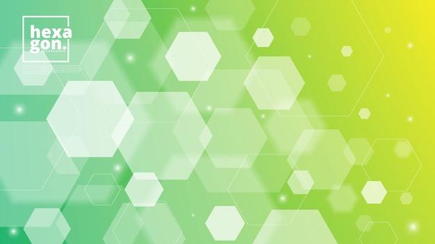 Weißer grüner hintergrund von hexagonen. geometrischen stil. mosaikgitter. abstrakte sechsecke deisgn Premium Vektoren