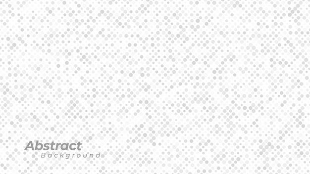 Weißer hintergrund mit abstraktem punktmuster. Premium Vektoren
