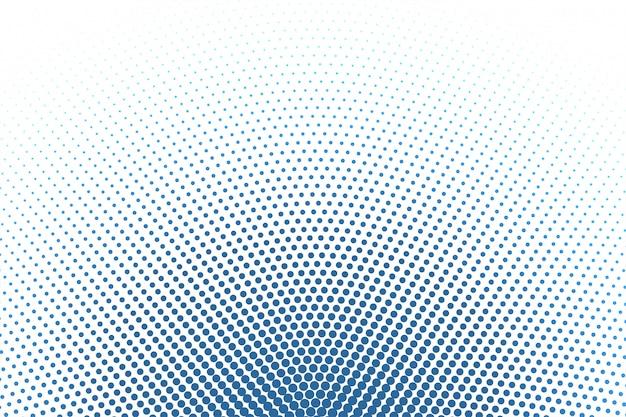 Weißer hintergrund mit blauem rundem halbtonhintergrund Kostenlosen Vektoren
