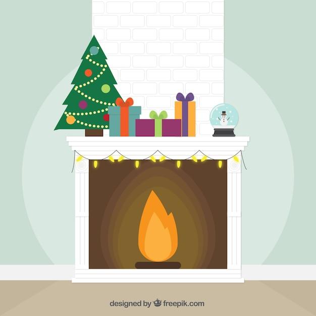 wei er kamin hintergrund mit weihnachtsschmuck download. Black Bedroom Furniture Sets. Home Design Ideas