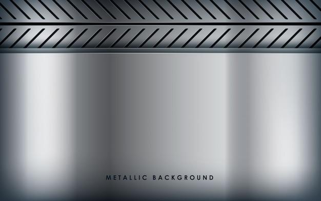 Weißer metallischer hintergrund der beschaffenheit Premium Vektoren