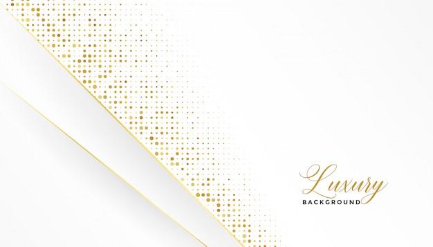 Weißer und goldener luxushintergrund mit glitzer Kostenlosen Vektoren