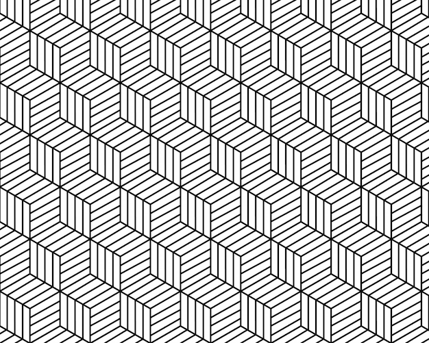 Weißer und schwarzer tonvektorhintergrund der geometrischen musterzusammenfassung Premium Vektoren