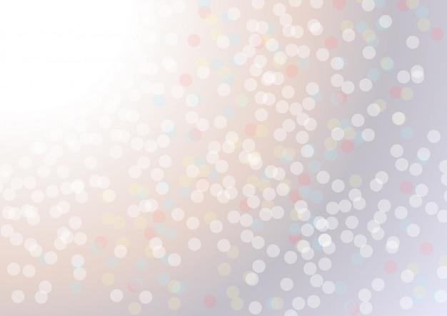 Weißer unschärfezusammenfassungshintergrund. bokeh weihnachten verschwommen schöne glänzende weihnachtsbeleuchtung Premium Vektoren