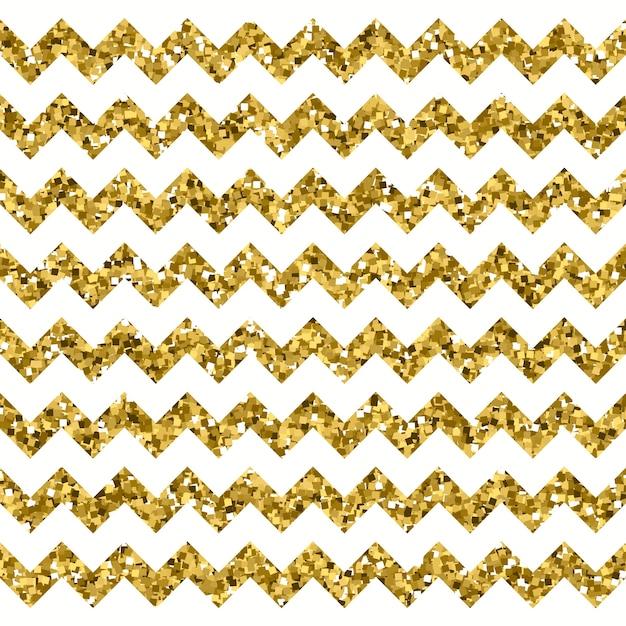 Weißes chevron-muster mit sparkly gold-effekt Premium Vektoren