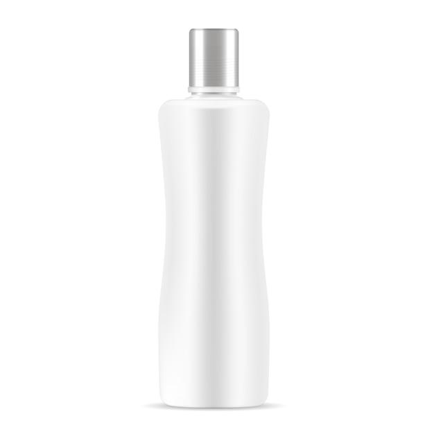 Weißes kosmetisches flaschenmodell Premium Vektoren