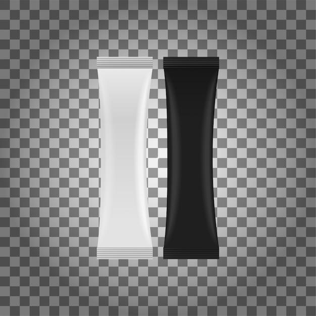 Weißes leeres folien-lebensmittel doypack. a stand up pouch bag verpackung mit reißverschluss. Premium Vektoren
