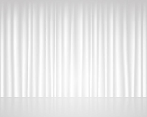 Weißes leeres stadium mit vorhanghochzeitsschablone Premium Vektoren